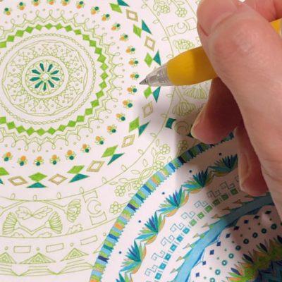 制作過程 紋様色彩画