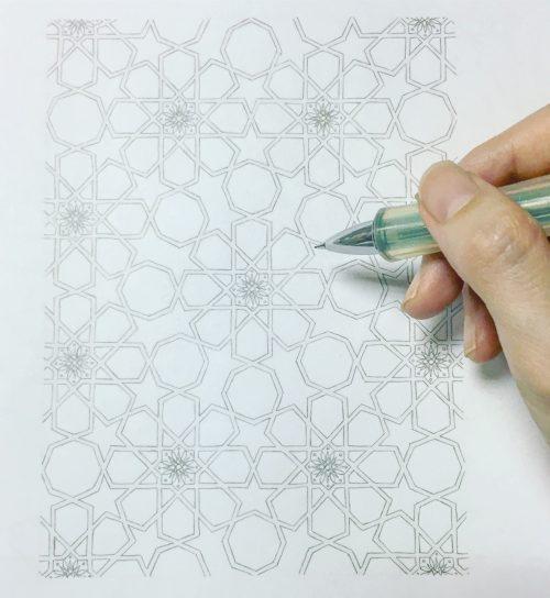 紋様色彩画 イスラム
