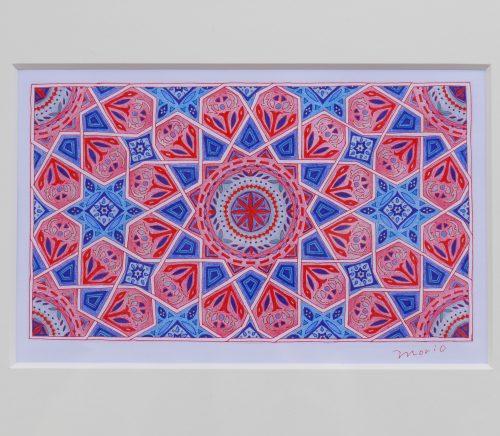 イスラム紋様 紋様色彩画
