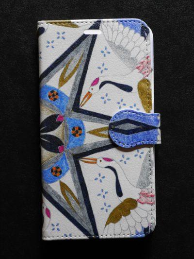 スマホケース 鶴の舞