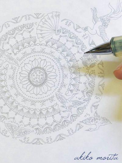 寿の舞 紋様色彩画
