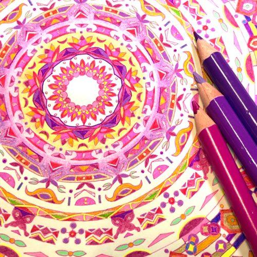 紋様色彩画 ピンク