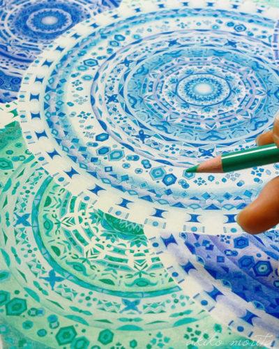 紋様色彩画 途中経過