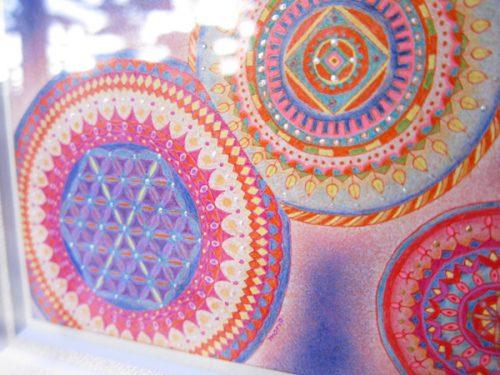 紋様色彩画 フラワーオブライフファンタジー