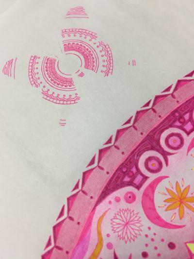 紋様色彩画 蝶