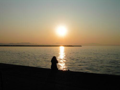 写真 画像 うみ 夕日