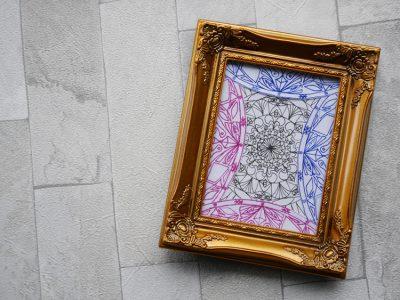 紋様色彩画 小作品