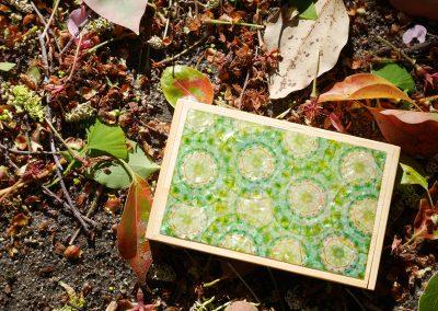 名刺入れ 緑の華