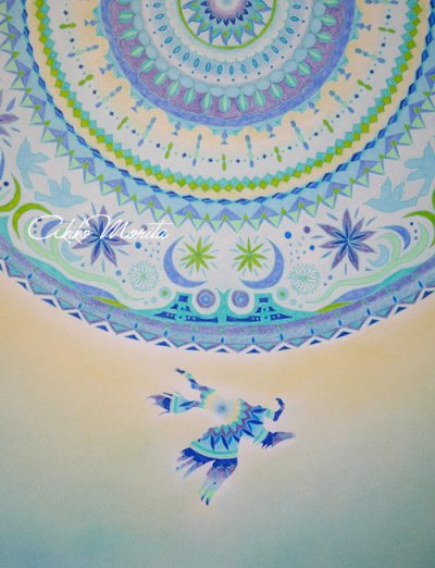 ペガサスの恋人 紋様色彩画