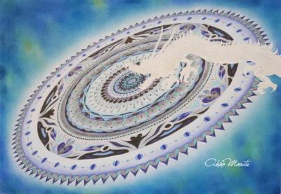 「龍から神へ」 紋様色彩画