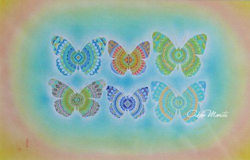 美しいもの 紋様色彩画 蝶