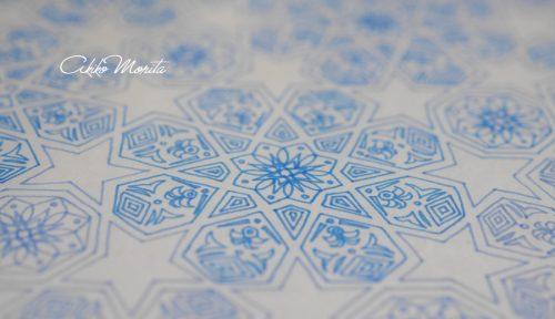 洗い流す イスラム紋様 紋様色彩画