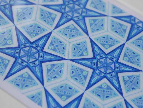 正直な心 紋様色彩画 イスラム紋様