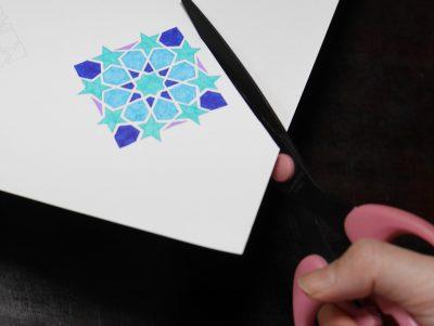 紋様色彩画ぬりえオーナメントバージョン