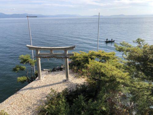 滋賀県 琵琶湖 弁財天 竹生島