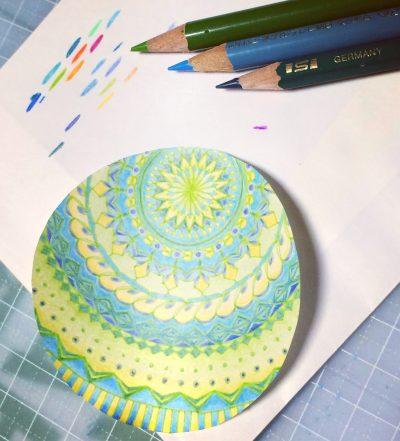 紋様色彩画 途中