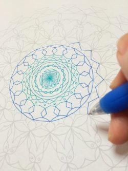 紋様色彩画 ぬりえ 写線画